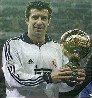 Luis Figo se hizo con el Balón de Oro a pesar de no conseguir ningún título. Foto: Agencias