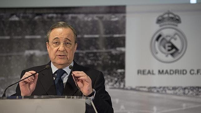 Florentino Pérez en una conferencia del Real Madrid / Agencias