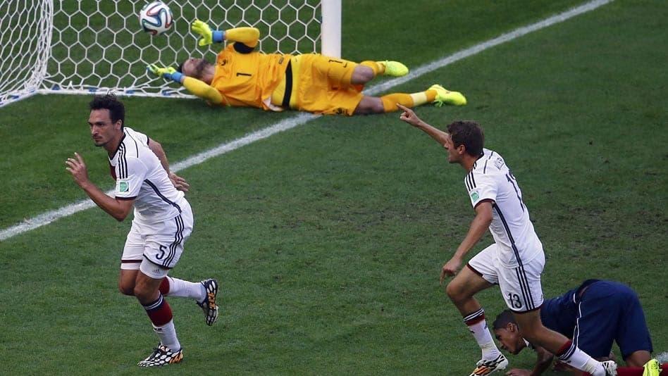 Hummels, a balón parado, clasificó a los germanos para las semifinales de Brasil 2014.