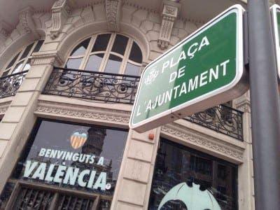 La nueva tienda del Valencia CF está situada en la plaza del Ayuntamiento
