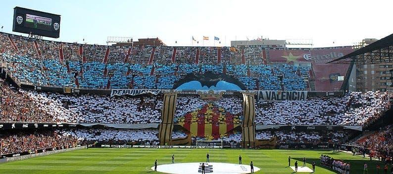 El mosáico que preparó la afición del Valencia CF
