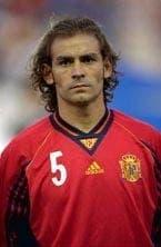 Paco Jémez con la selección española en su etapa de futbolista.