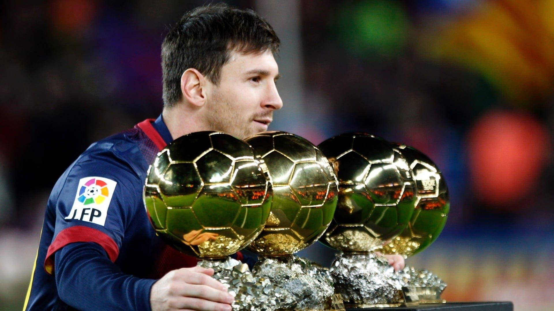 Messi ofrece sus 4 Balones de Oro a la afición