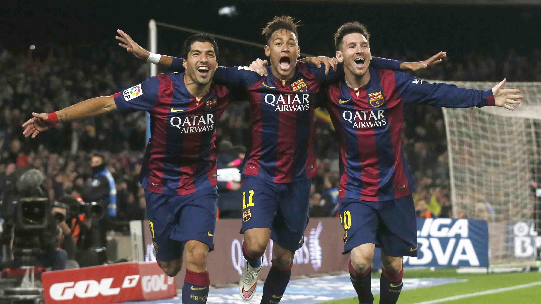 Súarez, Neymar y Messi. Foto: Agencias