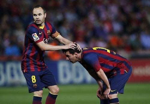 Messi y Iniesta. Foto: Agencia