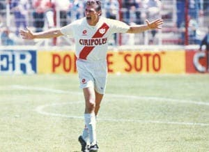 Anton Polster en su única temporada en el rayo 1992-93