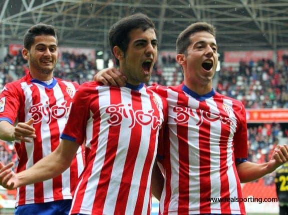El Sporting celebrando uno de los goles de  esta temporada/Agencias