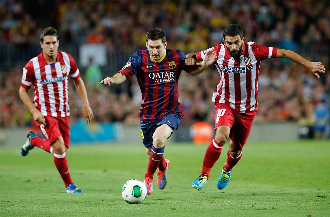 Leo Messi frente al Atlético de Madrid. Foto: Agencia