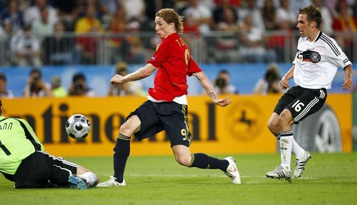 El Niño marcó con España  el gol de la Euro 2008. A la postre el gol más importante de su carrera. Foto: Agencias.
